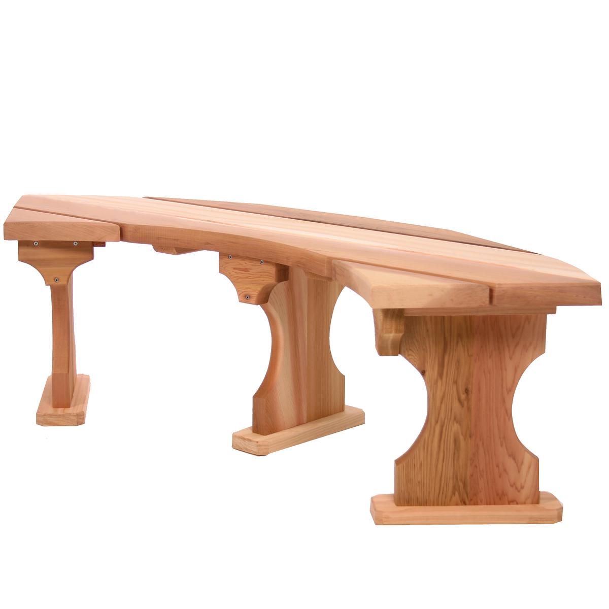 All Things Cedar QR60-4 4-Piece Roundabout Garden Bench Set