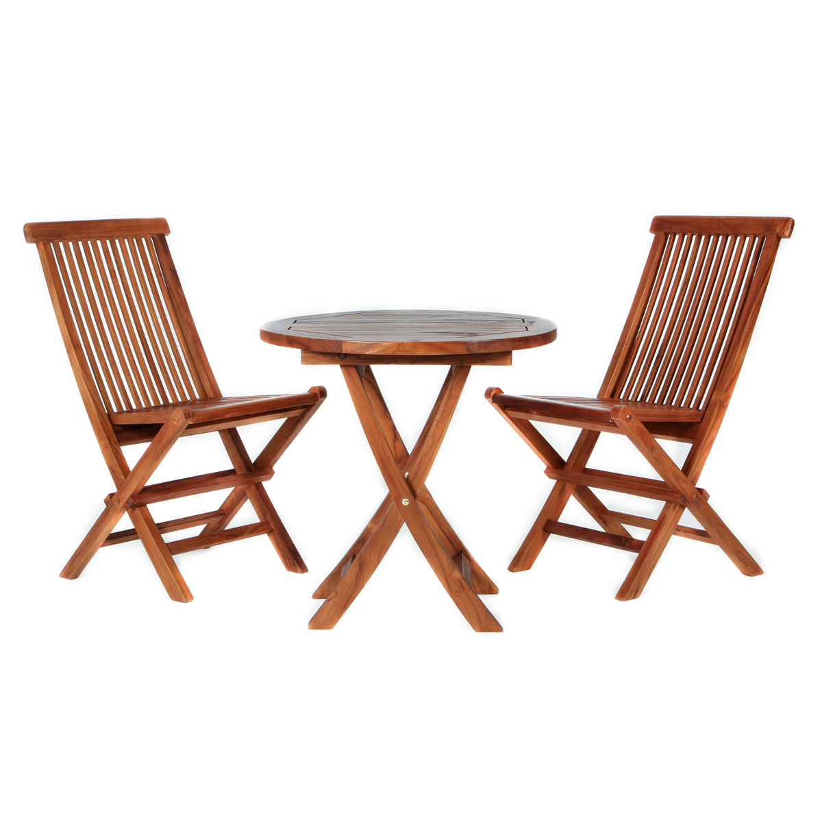 Picture of: All Things Cedar Folding Chair Teak Table Patio Outdoor Furniture